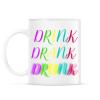 PRINTFASHION DRINK-DRANK-DRUNK - Bögre - Fehér