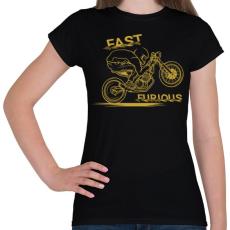 PRINTFASHION Dühös motoros - Női póló - Fekete
