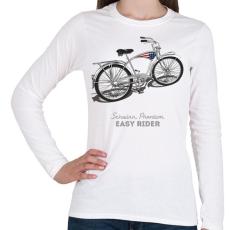 PRINTFASHION Easy Rider - Női hosszú ujjú póló - Fehér