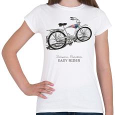 PRINTFASHION Easy Rider - Női póló - Fehér