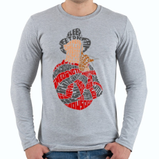 PRINTFASHION Édes álom - Férfi hosszú ujjú póló - Sport szürke