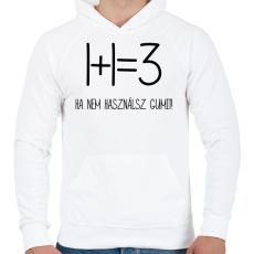 PRINTFASHION Egy kis matekozás - Férfi kapucnis pulóver - Fehér