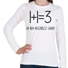 PRINTFASHION Egy kis matekozás - Női hosszú ujjú póló - Fehér női póló