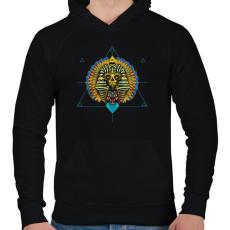 PRINTFASHION Egyiptom - Férfi kapucnis pulóver - Fekete