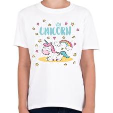 PRINTFASHION Egyszarvú - Gyerek póló - Fehér gyerek póló