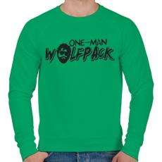 PRINTFASHION Egytagú farkasfalka - Férfi pulóver - Zöld