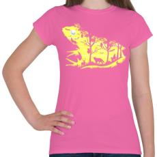PRINTFASHION Éjjeli béka - Női póló - Rózsaszín
