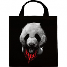 PRINTFASHION Elegáns panda  - Vászontáska - Fekete