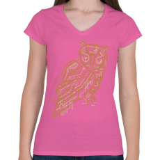 PRINTFASHION Elektrobagoly - Női V-nyakú póló - Rózsaszín