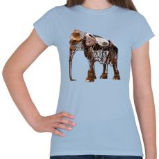 PRINTFASHION Elephant - Női póló - Világoskék