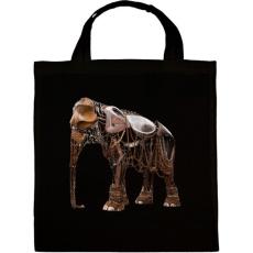 PRINTFASHION Elephant - Vászontáska - Fekete
