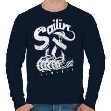 PRINTFASHION Elhajózni - Férfi pulóver - Sötétkék
