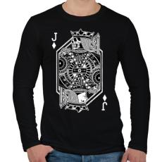 PRINTFASHION Elmúlás - Férfi hosszú ujjú póló - Fekete