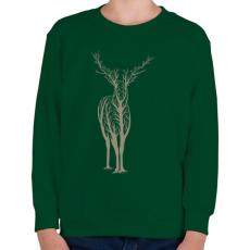 PRINTFASHION Élővilág - Gyerek pulóver - Sötétzöld