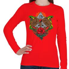 PRINTFASHION Első szerelem  - Női hosszú ujjú póló - Piros