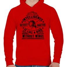 PRINTFASHION Eltökéltség - Férfi kapucnis pulóver - Piros