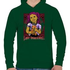 PRINTFASHION Elveszett ártatlanság - Férfi kapucnis pulóver - Sötétzöld