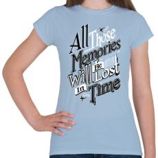PRINTFASHION Emlékezz - Női póló - Világoskék