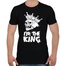 PRINTFASHION Én vagyok a király - Férfi póló - Fekete