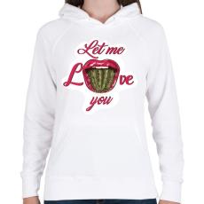 PRINTFASHION Engedd, hogy szeresselek! - Női kapucnis pulóver - Fehér