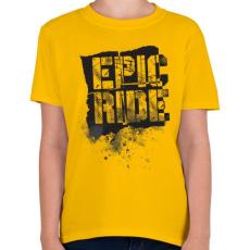 PRINTFASHION Epic Ride - fekete - Gyerek póló - Sárga