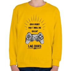 PRINTFASHION Erőszakos játék - Gyerek pulóver - Sárga
