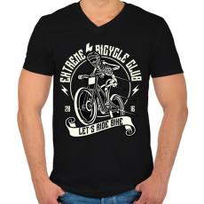 PRINTFASHION Extrém bringás - Férfi V-nyakú póló - Fekete