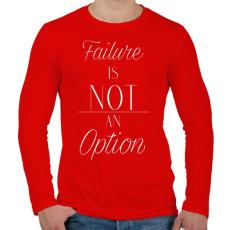 PRINTFASHION Failure - Férfi hosszú ujjú póló - Piros