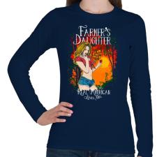 PRINTFASHION Farmerek lánya - Női hosszú ujjú póló - Sötétkék női póló