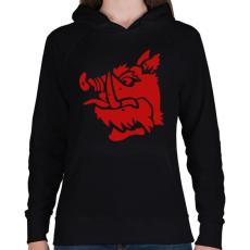 PRINTFASHION fekete lovag - Női kapucnis pulóver - Fekete