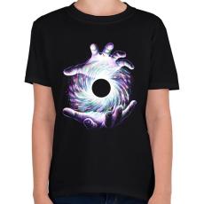 PRINTFASHION Fekete lyuk - Gyerek póló - Fekete