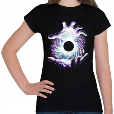 PRINTFASHION Fekete lyuk - Női póló - Fekete