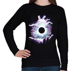 PRINTFASHION Fekete lyuk - Női pulóver - Fekete