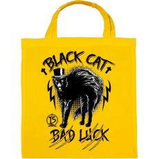 PRINTFASHION Fekete macska  - Vászontáska - Sárga