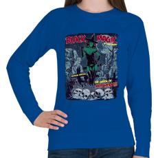 PRINTFASHION Fekete mágia - Női pulóver - Királykék