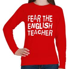 PRINTFASHION Félelem az angol tanártól! - Női pulóver - Piros