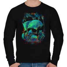PRINTFASHION Fertőzés - Férfi pulóver - Fekete