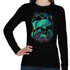 PRINTFASHION Fertőzés - Női hosszú ujjú póló - Fekete
