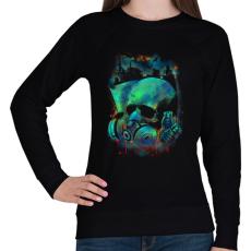 PRINTFASHION Fertőzés - Női pulóver - Fekete
