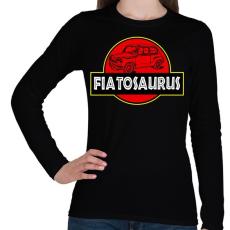 PRINTFASHION Fiatosaurus - Női hosszú ujjú póló - Fekete