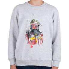 PRINTFASHION Fire&Smoke - Gyerek pulóver - Sport szürke
