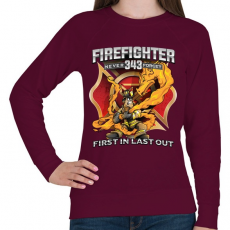 PRINTFASHION Firefighter Firedragon - Női pulóver - Bordó