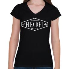 PRINTFASHION FlexKft est. 2015 - Női V-nyakú póló - Fekete