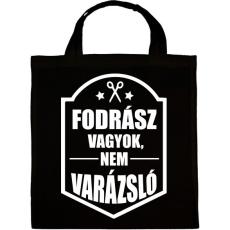 PRINTFASHION FODRÁSZ, NEM VARÁZSLÓ - Vászontáska - Fekete
