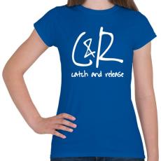 PRINTFASHION Fogd meg és engedd vissza - Női póló - Királykék