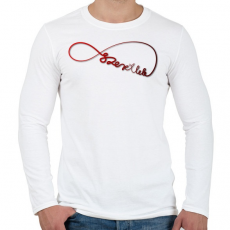 PRINTFASHION Forever3 - Férfi hosszú ujjú póló - Fehér