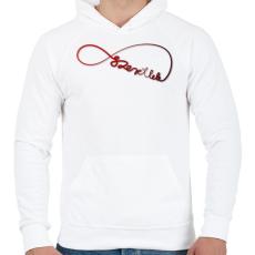 PRINTFASHION Forever3 - Férfi kapucnis pulóver - Fehér