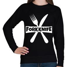PRINTFASHION Forkknife - Női pulóver - Fekete