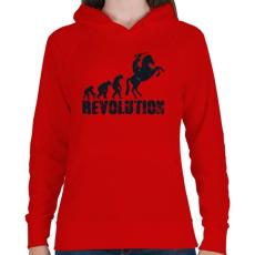 PRINTFASHION Forradalom - Női kapucnis pulóver - Piros