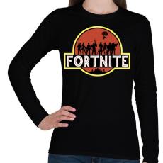 PRINTFASHION Fortnite Park - Női hosszú ujjú póló - Fekete